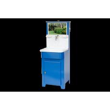 Умывальник Мойдодыр с пластиковой мойкой (синий)