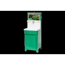 Умывальник Мойдодыр с пластиковой мойкой (зеленый)