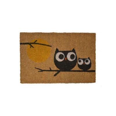 """Коврик кокосовый """"Влюблённые совы"""", 40*60 см"""