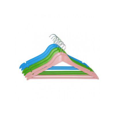 Вешалка EVERYDAY, 44,5х23х1,2 см,ТМ МД, одежная, цветной микс, (6 шт)