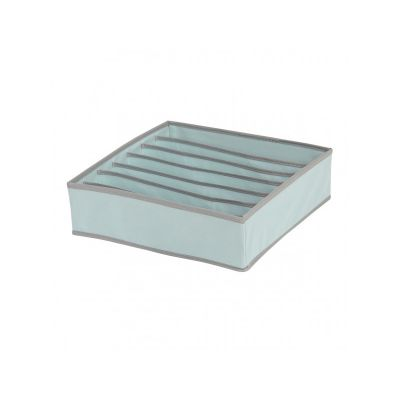 Кофр для нижнего белья на 7 отделений, голубой,32*32*9 см, ТМ МД