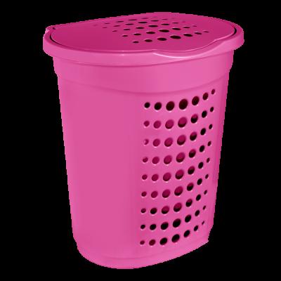 Корзина для белья 60 л (тёмно-розовый) Алеана 122053