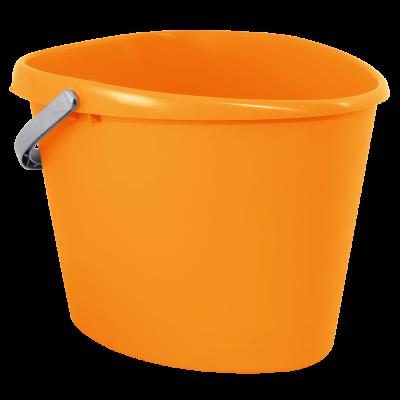 Ведро сердцевидное 10 л (оранжевый) Алеана 122021