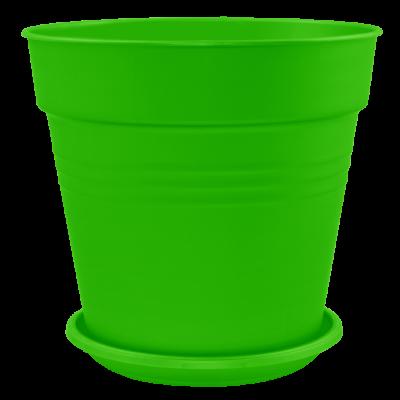 Вазон с подставкой «Глория» 19*18 см 3,1 л (светло-зеленый) Алеана 114018