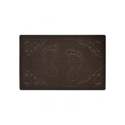 Коврик придверный без кромки, с рисунком коричневый, ТМ МД, 50*80