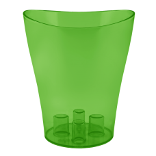"""Вазон для орхидей """"Ника"""" 13*15,5 см 1 л (зеленый прозрачный PS) Алеана 114050"""