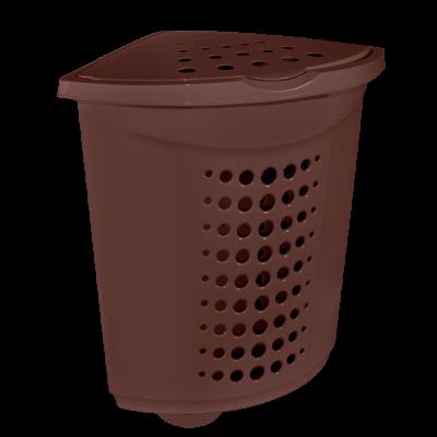 Корзина для белья угловая 45 л (тёмно-коричневый) Алеана 122051