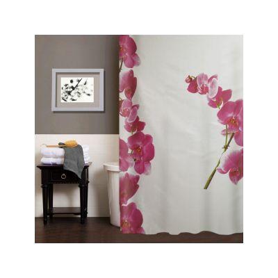 """Шторка для ванной комнаты """"Орхидея"""", 180*200 cм"""