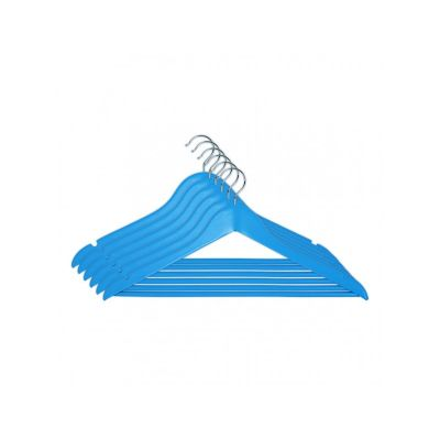 Вешалка EVERYDAY, 44,5х23х1,2 см, ТМ МД, одежная, голубая (6 шт).