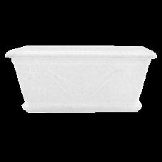 Вазон балконный «Петуния» 50*27*22 см 15 л (белый флок) Алеана 113033