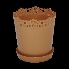"""Вазон """"Ришелье"""" с подставкой 13*13,5 см 0,9 л (бронзовый) Алеана 115002"""
