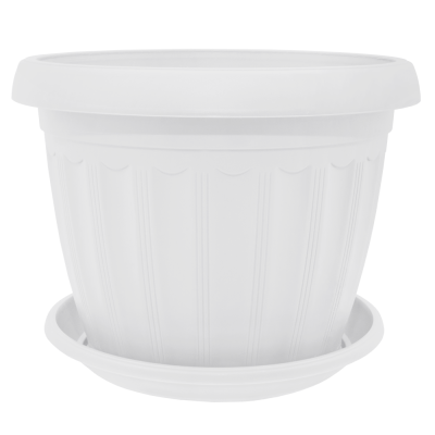 Вазон с подставкой «Терра» 10*8 см 0,35 л (белый) Алеана 112070