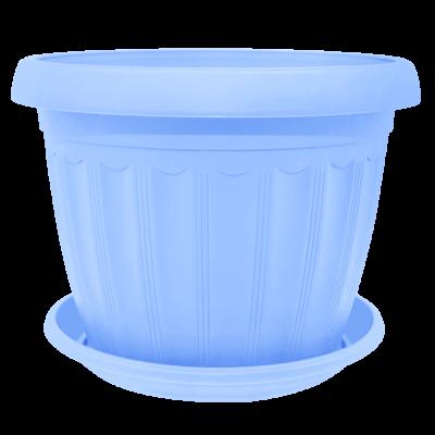Вазон с подставкой «Терра» 20*15 см 2,8 л (голубой) Алеана 112066