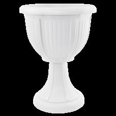 Вазон с подставкой «Леон» (глубокий) 30,5*41 см 6 л (белый) Алеана 114008