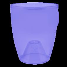 Вазон «Орхидея» 12*14 см 1 л (фиолетовый прозрачный PS) Алеана 113093