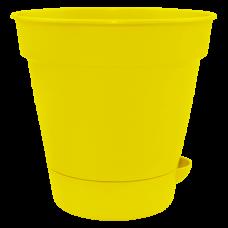 """Вазон с поливом """"Глория"""" 12*11,5 см 0,7 л (тёмно-жёлтый) Алеана 114020"""