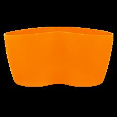 Вазон кактусник 3 растения 17*16,5*9 см 1,1 л (оранжевый) Алеана 113053