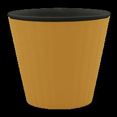 Вазон «Ибис» с двойным дном 17,9*14,7 см 2,3 л (бронзовый/черный) Алеана 114036