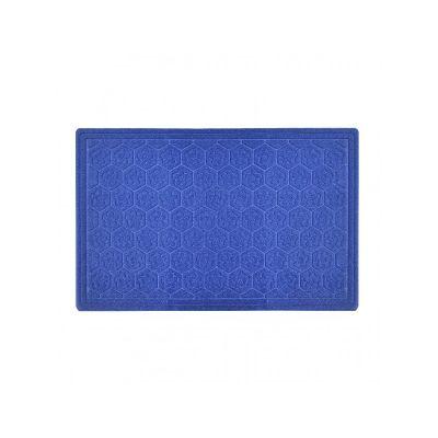 Коврик придверный без кромки, с узором темно синий, ТМ МД, 45*70