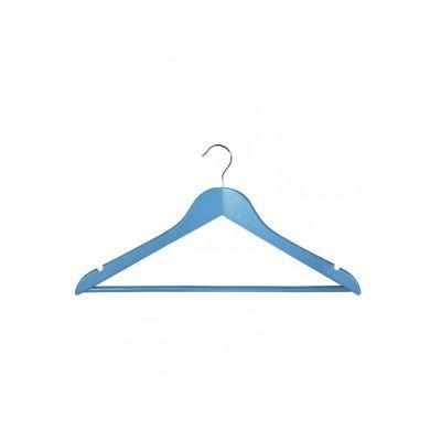Вешалка EVERYDAY, 44,5х23х1,2 см, ТМ МД, одежная, голубая.