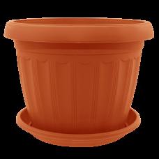 Вазон с подставкой «Терра» 8*6,5 см (терракот) Алеана 112071
