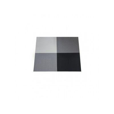 Коврик сервировочный под столовые приборы, 33х46 см, клетка черно-белая, ТМ МД