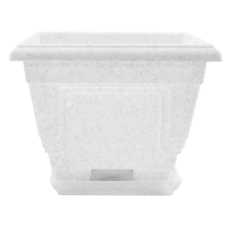Вазон c подставкой «Петуния» 18*18*14 см 2,0 л (белый флок) Алеана 113017