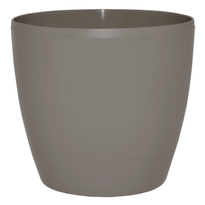 Вазон «Матильда» с поливом и дренажом 12*11 см 0,9 л (темно-серый глиттер) Алеана 114092