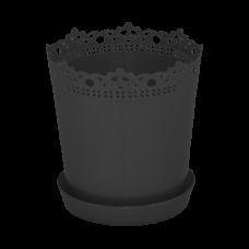 """Вазон """"Ришелье"""" с подставкой 13*13,5 см 0,9 л (гранит) Алеана 115002"""