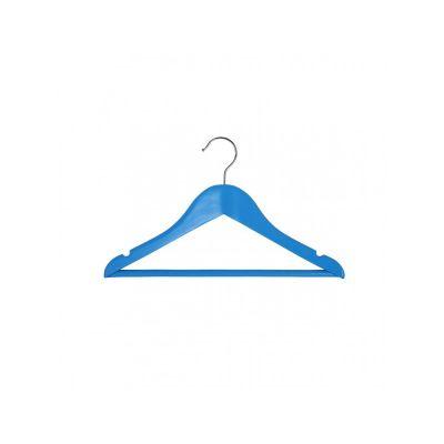 Вешалка подростковая, 33,5 х 16 х 1,2 см,ТМ МД, одежная, голубая.