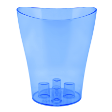 "Вазон для орхидей ""Ника"" 16*19 см 2 л (синий прозрачный PS) Алеана 114051"