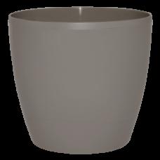 Вазон «Матильда» с поливом и дренажом 24*22 см 7,6 л (тёмно-серый глиттер) Алеана 114095