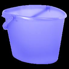 Ведро сердцевидное 10 л (фиолетовый прозрачный) Алеана 122021