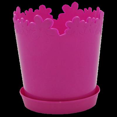 """Вазон """"Лютик"""" с подставкой 17*18 см 2 л (темно-розовый) Алеана 115001"""