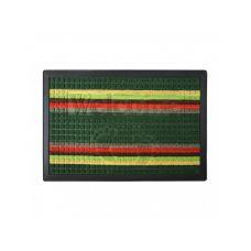 Коврик придверный с узором зелений полосатый, полипропилен, ТМ МД,40*60 см