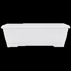 Вазон «Терра» балконный 100*19*16 см 19 л (белый) Алеана 114099