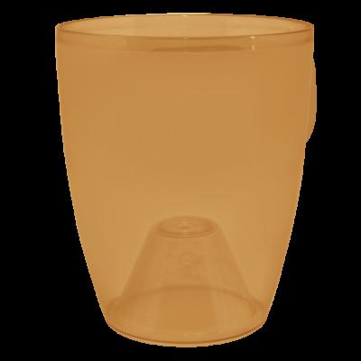 Вазон «Орхидея» 15*17 см 1,8 л (янтарный PS) Алеана 113094