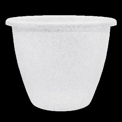Вазон «Верона» 15*11,5 см 1,1 л (белый флок) Алеана 112016
