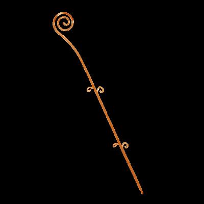 """Опора для орхидей """"Спираль"""" 64 см (янтарный PS) Алеана 114043"""