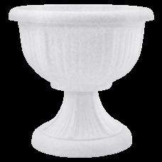 Вазон с подставкой «Леон» 41*39 см 15 л (белый флок) Алеана 114002