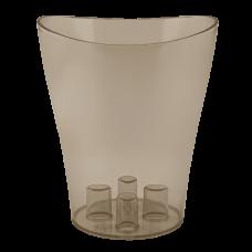 """Вазон для орхидей """"Ника"""" 13*15,5 см 1 л (коричневый прозрачный PS) Алеана 114050"""