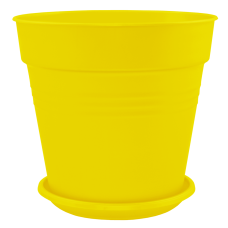 Вазон с подставкой «Глория» 15*14,5 см 1,6 л (тёмно-жёлты) Алеана 114016