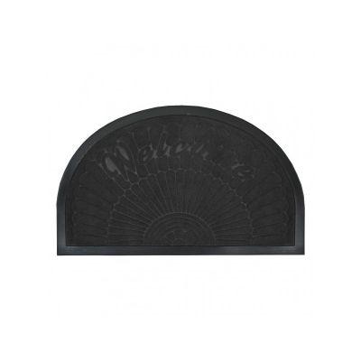 Коврик придверный полукруглый, с кромкой черный, ТМ МД, 45*75