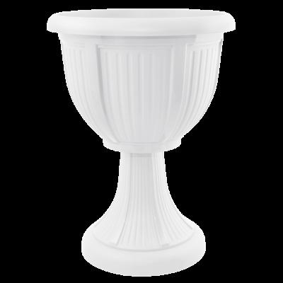 Вазон с подставкой «Леон» (глубокий) 41*53,5 см 15 л (белый) Алеана 114007