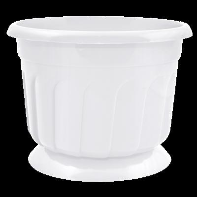Вазон c подставкой «Рина» 17*13 см 1,6 л (белый) Алеана 112055