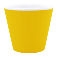 Вазон «Ибис» с двойным дном 13*11,2 см 1 л (тёмно-жёлтый/белый) Алеана 114032