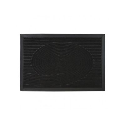 Коврик придверный с узором черная волна, полипропилен, ТМ МД, 40*60 см