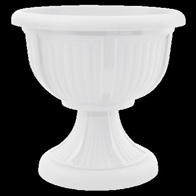 Вазон с подставкой «Леон» 41*39 см 15 л (белый) Алеана 114002