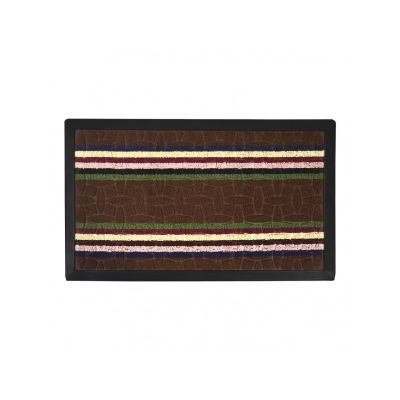 Коврик придверный с узором коричневый полосатый, полипропилен,ТМ МД,45*75 см