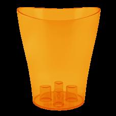 """Вазон для орхидей """"Ника"""" 16*19 см 2 л (тёмно-оранжевый PS) Алеана 114051"""